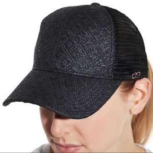 8985d1358ea CALIA by Carrie Underwood Accessories - CALIA Straw Mesh Trucker Hat  Baseball Cap